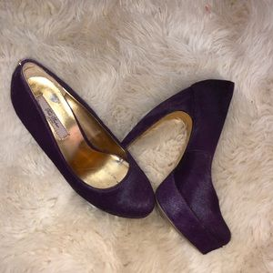 ted baker london purple pony hair pumps